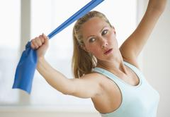 Woman working out - stock photo