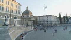 Wide shot Piazza del Popolo, Rome 1 (slomo dolly) Stock Footage