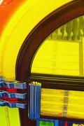 Partial view of a juke box - stock photo