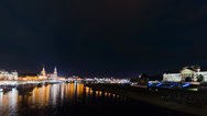 Stock Video Footage of firework above Dresden in Timelapse