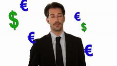 Euro vs u.s. dollar Stock Footage