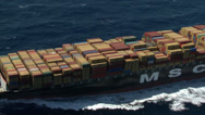 Stock Video Footage of Cargo, container ship at sea