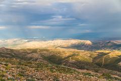 landscape of nemrut mountain - stock photo