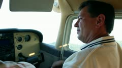 Copilot in airplane Stock Footage