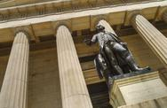Stock Photo of Statue of George Washington in front of Federal Hall