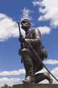 Memorial to first Pennsylvania cavalry on cemetery ridge - stock photo