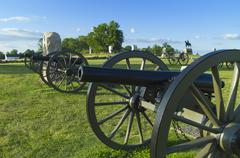 Cannons on cemetery ridge - stock photo