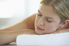 Woman at the spa - stock photo