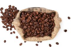 Gourmet coffe background. Stock Photos
