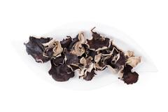 jew's ear on plate, top view. - stock photo