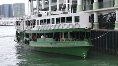 Star Ferry Hong Kong Victoria Harbor Stock Footage