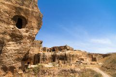 dara necropolis in mardin - stock photo