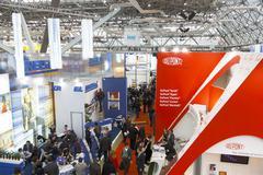 International Exhibition - stock photo