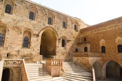 mor hananyo monastery in mardin - stock photo