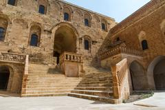 mor hananyo monastery in mardin - stock photo
