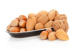 nuts variation. - stock photo