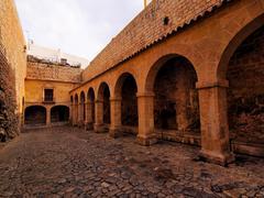 patio de armas in ibiza town - stock photo