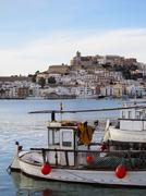 Harbor in ibiza town Stock Photos