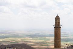 Minareetti ja maiseman Syyrian Kuvituskuvat