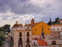 church of santo domingo in ibiza town - stock photo