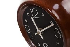 retro clock from the sixties. - stock photo