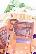 Money background. making money. Stock Photos