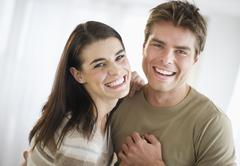 Stock Photo of USA, New Jersey, Jersey City, smiling couple