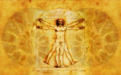 Vitruvian Man by Leonardo Da Vinci Stock Illustration
