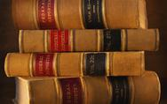 Stock Photo of Studio shot of law books
