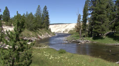 Yellowstone river - stock footage