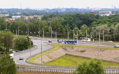 Road junction in the city of Yaroslavl - stock photo