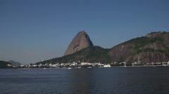 Hypertimelapse. Pan de Azucar / Rio de Janeiro Stock Footage
