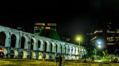Hyper timelapse. Lapa / Rio de Janeiro Stock Footage