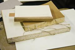 Stock Photo of Book binding workshop