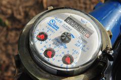 Concept photo - water consumption Stock Photos