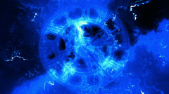 Clock Time Blue looping Abstract Animated Background Stock Footage