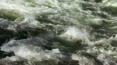Shot of abstract water rapids Stock Footage