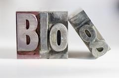 Close up of single word made of printing blocks Stock Photos
