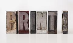 Close up of single word made of printing blocks - stock photo
