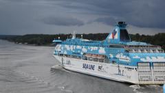 Passenger ship - stock footage