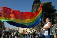 Stock Photo of gay pride in jerusalem israel