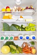 full fridge. healthy fitness concept. - stock photo