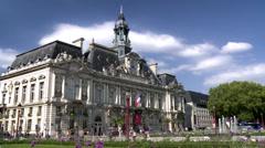 Hotel de ville de Tours (1) - stock footage