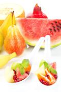 Healthy eating. tropical fruits. Stock Photos