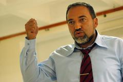 Avigdor lieberman charged in graft investigation Stock Photos