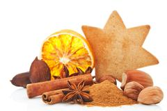 culinary aromatic spices still life. - stock photo
