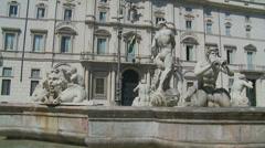 Fontana del Moro in Piazza Navona, Rome 13 (slomo dolly) Stock Footage