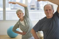 Stock Photo of Senior people exercising