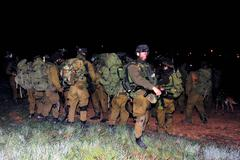 Israel Confirms at Least 20 Gunmen Killed in Ground Offensive - stock photo