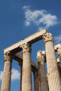 Stock Photo of Greece, Athens, Corinthian columns at Temple of Olympian Zeus